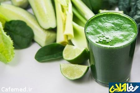 نوشيدني سبزيجات انرژي زا و ضد پوكي استخوان